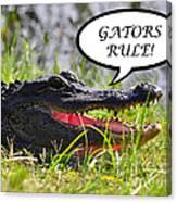 Gators Rule Greeting Card Canvas Print