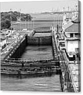 Gatun Locks Panama Monochrome Canvas Print