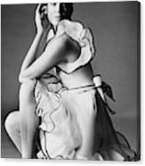 Gayle Hunnicutt Wearing A Oscar De La Renta Dress Canvas Print