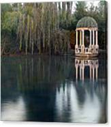 Gazebo And Lake Canvas Print