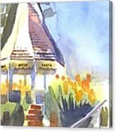 Gazebo On The City Square Canvas Print