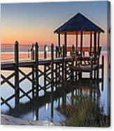 Gently - Gazebo On The Sound Outer Banks North Carolina Canvas Print
