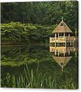 Gazebo Reflections Canvas Print