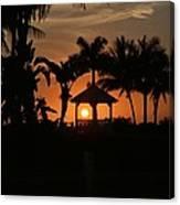 Gazebo Silhouette Canvas Print
