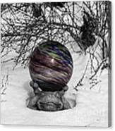 Gazing Ball Squared Canvas Print