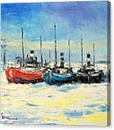 Gdynia Harbour - Winter Canvas Print