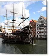 Gdynia Pirate Ship - Gdansk Canvas Print