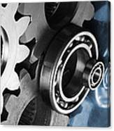 Gears And Cogwheels Reflection Canvas Print