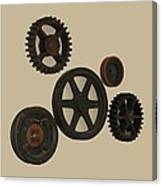 Gears And Pulleys Canvas Print