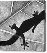 Gecko Shadow Canvas Print