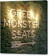 Geen Monster Seats Sign Canvas Print