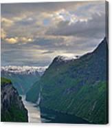 Geirangerfjord Sunset Canvas Print