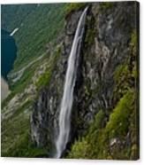 Geirangerfjord Waterfall Canvas Print