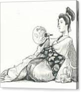 Geisha Iv Canvas Print