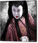 Geisha Kunoichi Canvas Print