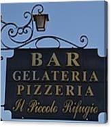 Gelateria Pizzeria Canvas Print