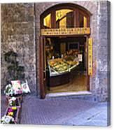 Gelateria Siena Canvas Print