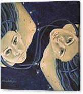 Gemini From Zodiac Series Canvas Print