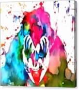 Gene Simmons Paint Splatter Canvas Print