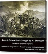General Custers Death Struggle Canvas Print