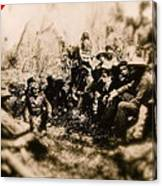 General George R. Crook Negotiating With Geronimo  1886-2008 Canvas Print