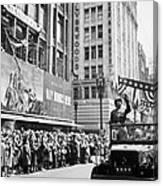 General Patton Ticker Tape Parade Canvas Print
