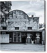 General Store In Independence Texas Bw Canvas Print
