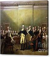 General Washington Resigning His Commission Canvas Print