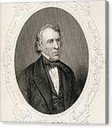General Zachary Taylor, From The History Of The United States, Vol. II, By Charles Mackay, Engraved Canvas Print
