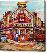Geno's Steaks Philadelphia Cheesesteak Restaurant South Philly Italian Market Scenes Carole Spandau Canvas Print