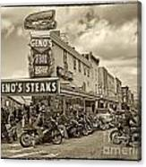 Geno's With Cycles Canvas Print
