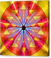 Geo-cosmic Sri Yantra Canvas Print