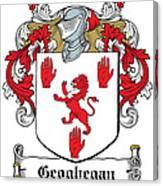 Geoghegan Coat Of Arms Westmeath Ireland Canvas Print