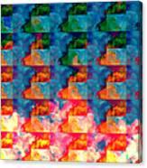 Geometric Cloud Cover Canvas Print