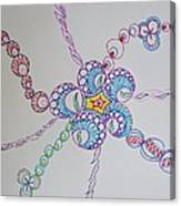 Geometric Greeting Canvas Print