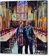 George And Chrissy At Hogwarts Canvas Print