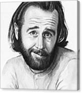 George Carlin Portrait Canvas Print