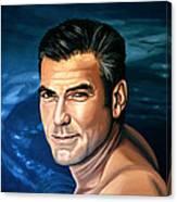 George Clooney 2 Canvas Print