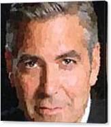 George Clooney Portrait Canvas Print