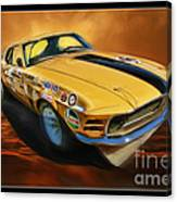 George Follmer 1970 Boss 302 Ford Mustang Canvas Print