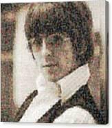 George Harrison Mosaic Image 2 Canvas Print