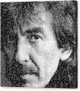George Harrison Mosaic Image 6 Canvas Print
