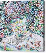 George Harrison With Cat Canvas Print