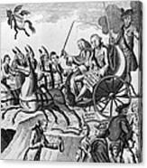 George IIi Cartoon, 1775 Canvas Print