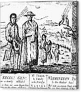 George IIi Cartoon, 1779 Canvas Print