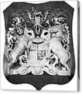 George IIi: Coat Of Arms Canvas Print