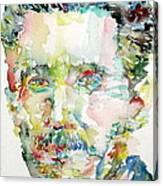 George Orwell Watercolor Portrait Canvas Print