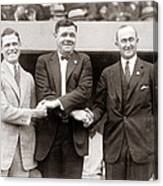 George Sisler Babe Ruth Ty Cobb Canvas Print
