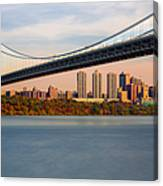 George Washington Bridge In Autumn Canvas Print