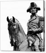 George Washington Statue Boston Ma Canvas Print